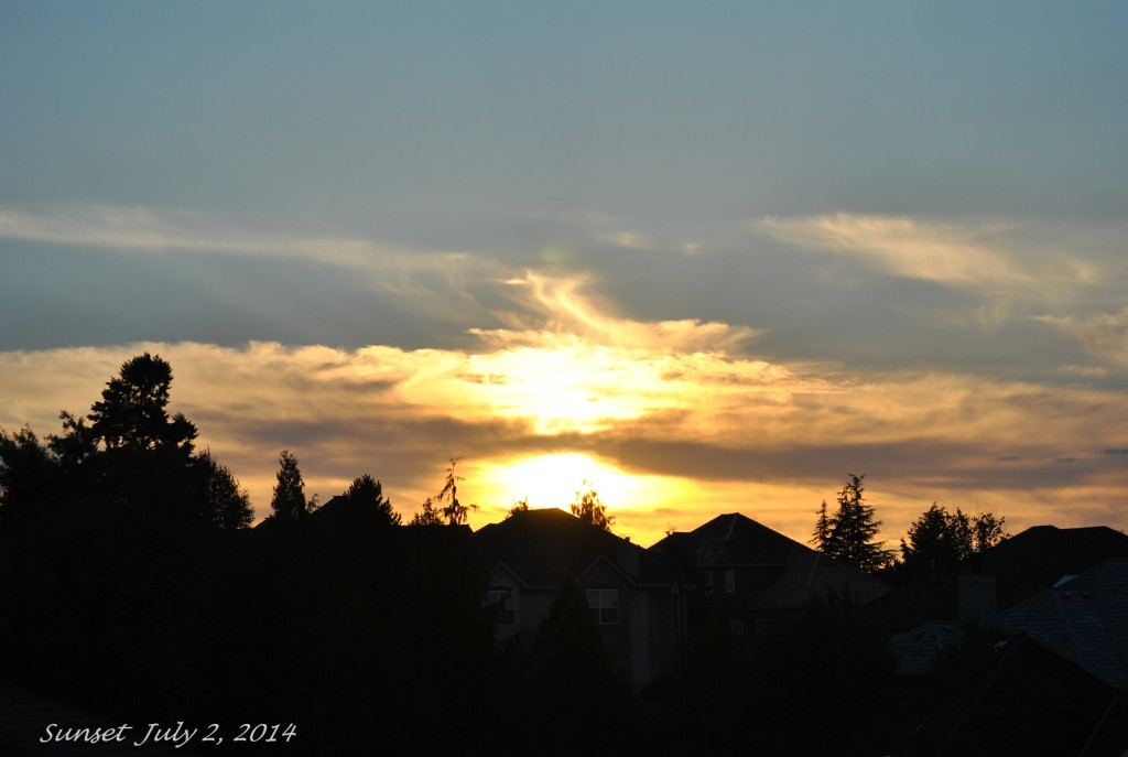 Sunset July 2, 2014