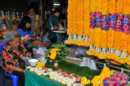 Chợ Hoa Pak Khlong Talat - Bangkok (1)