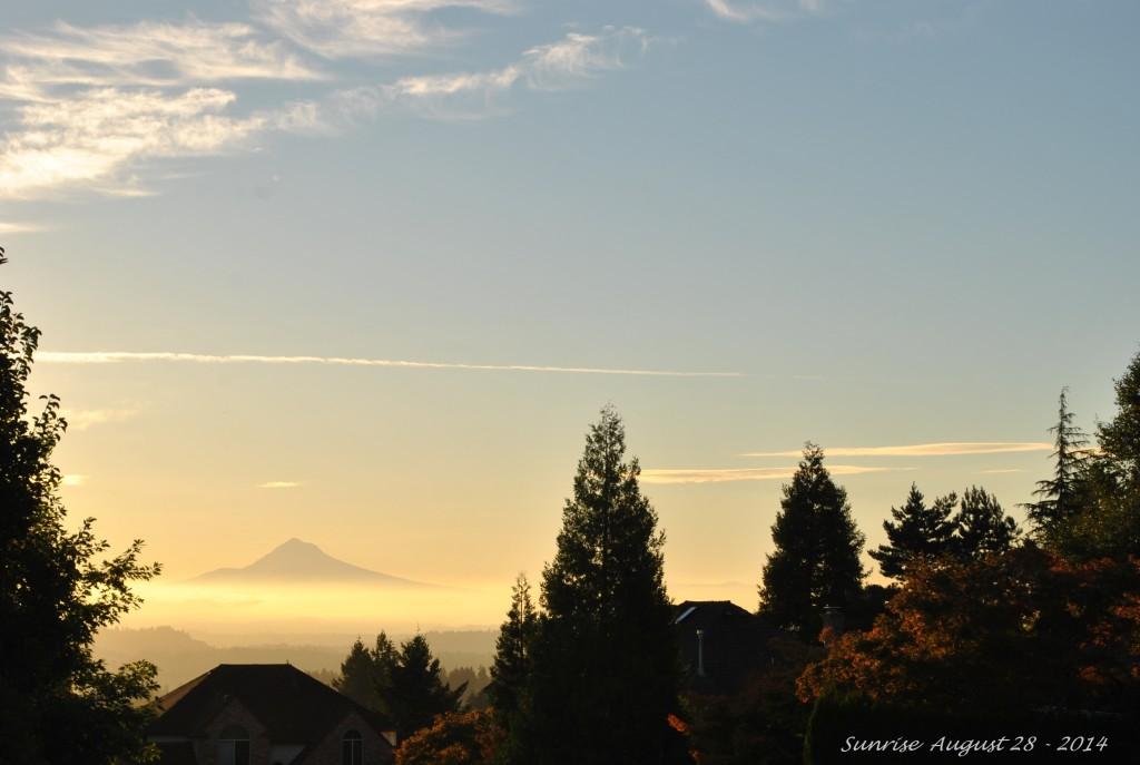 Sunrise August-28-2014.